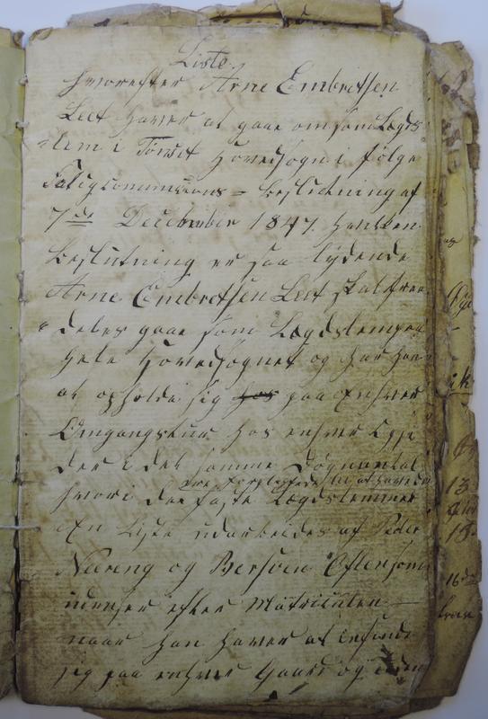 Legdsbok fra 1847