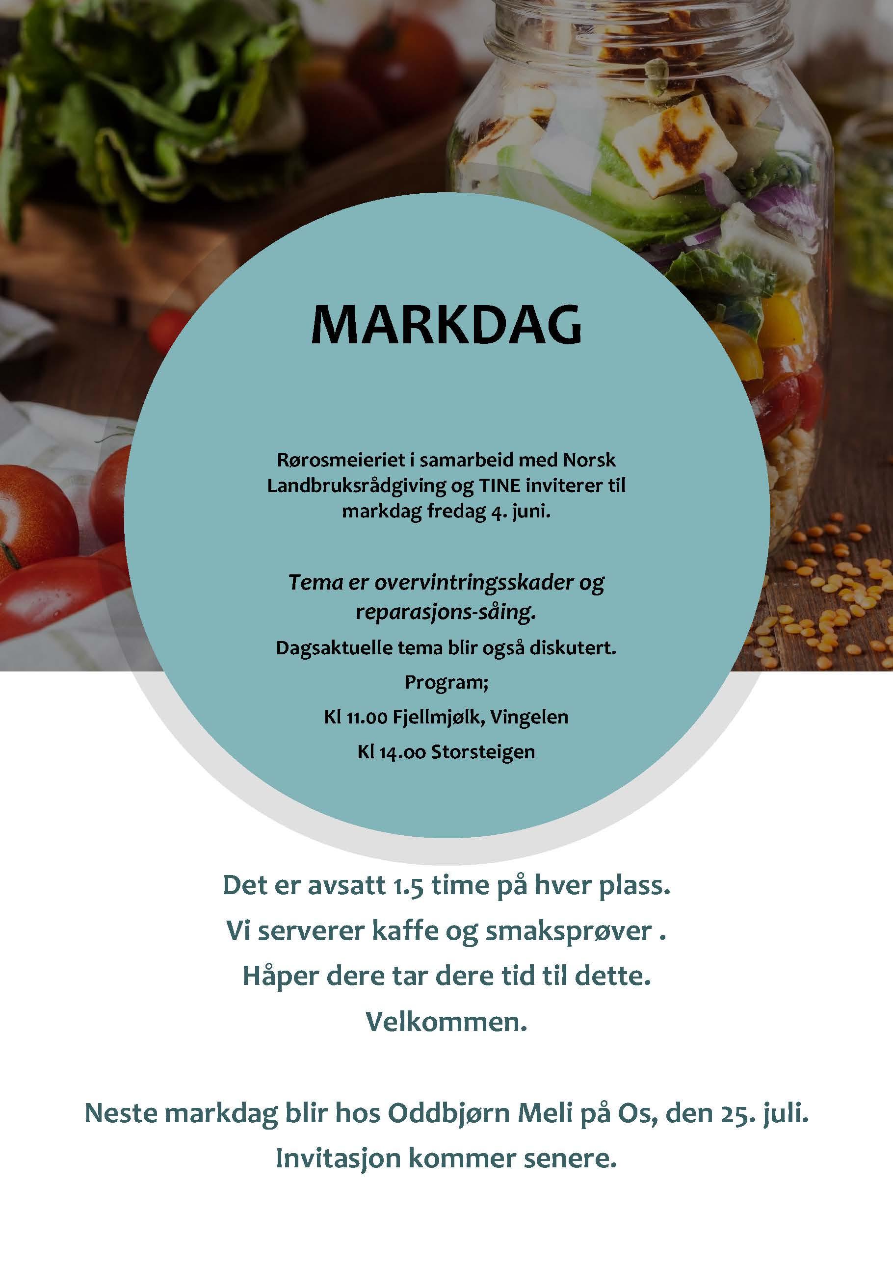 Bilde av plakat med invitasjon til Markdag den 4. juni