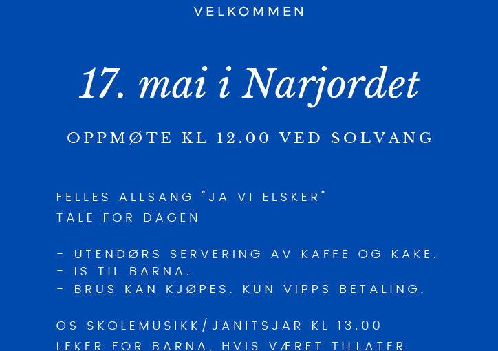Program for 17. mai i Narjordet