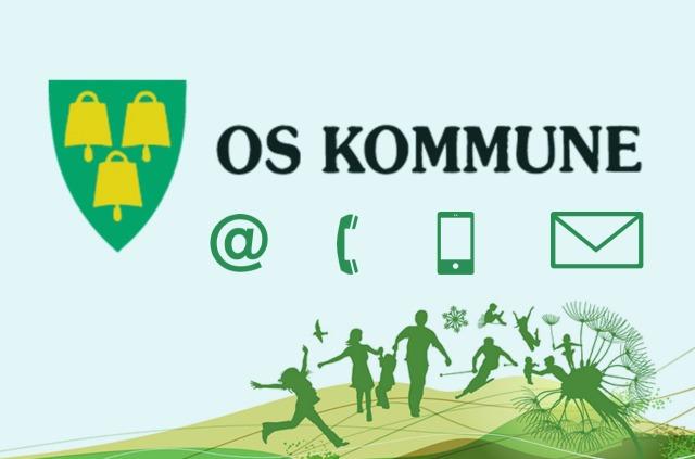 Os kommunes grafiske profil med symboler for kontakt