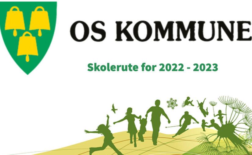 Skolerute for 2022 – 2023 vedtatt